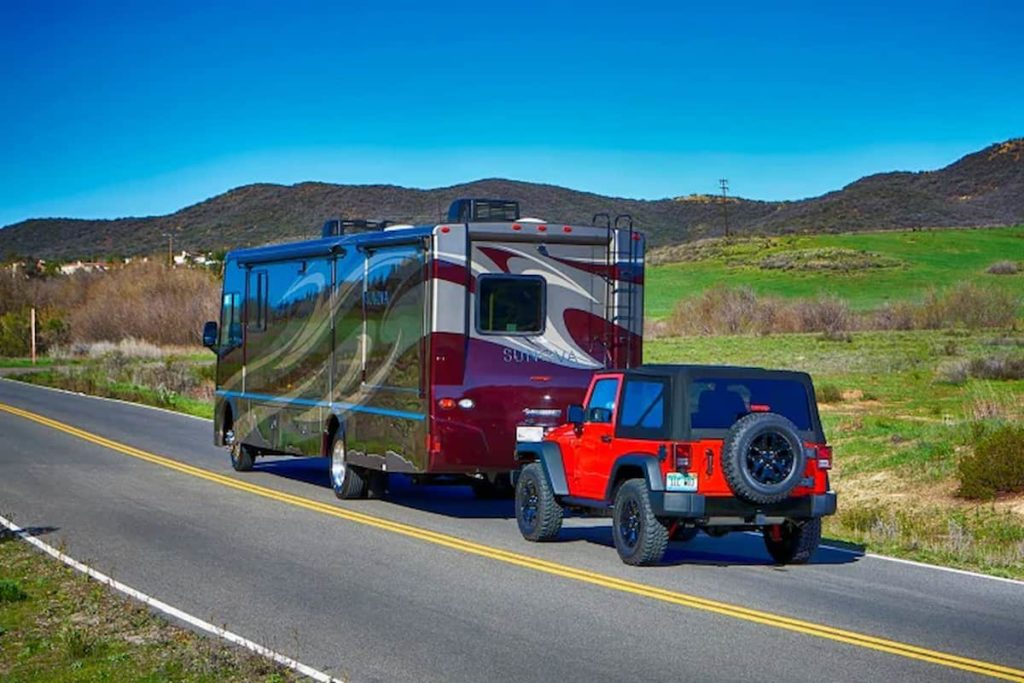 Flat towing your vehicle is a great solution
